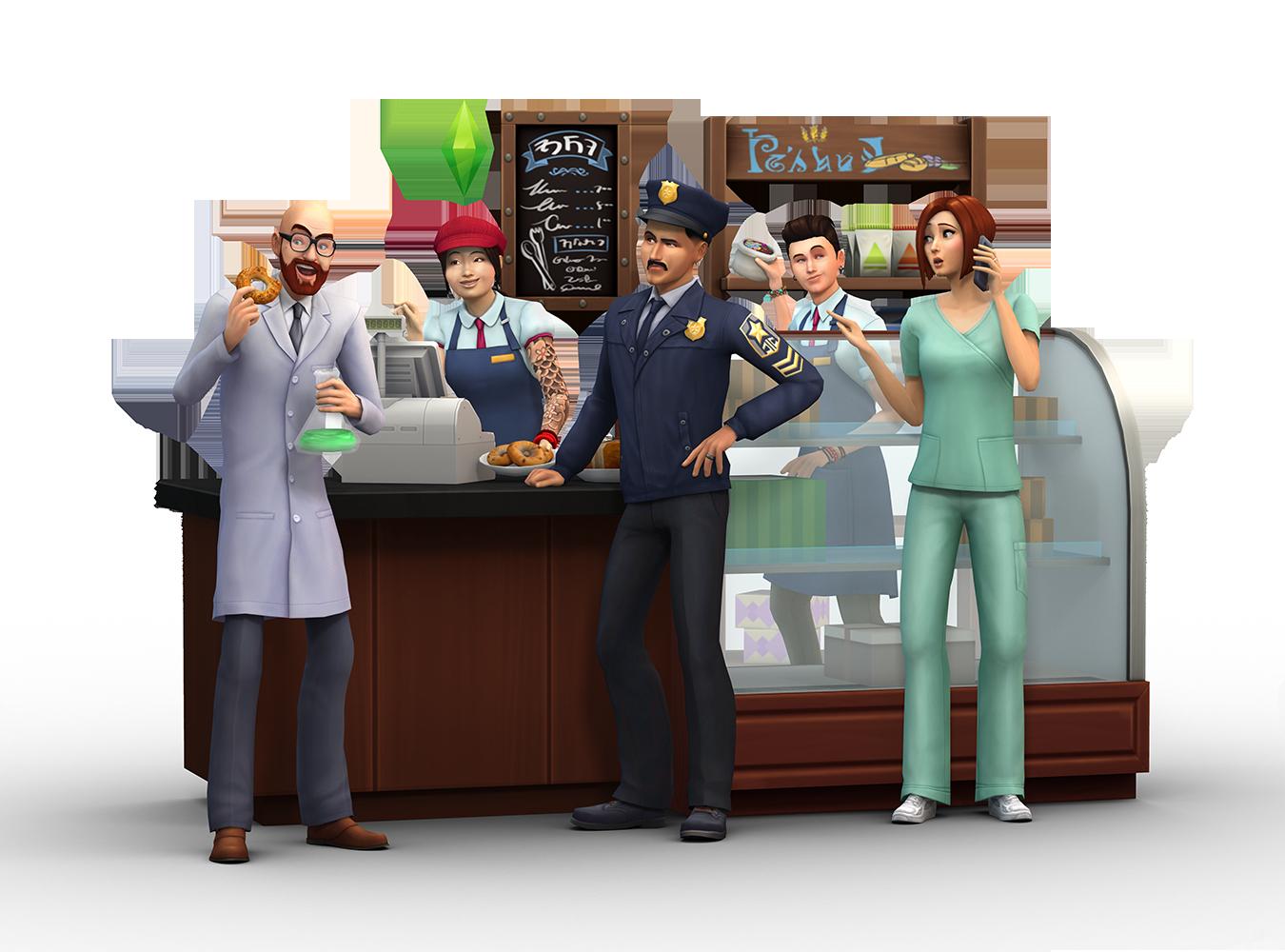 Sims 4, Au travail