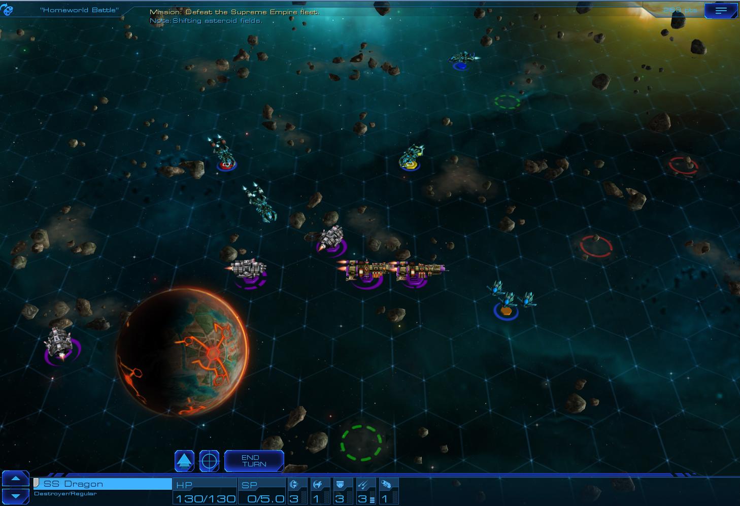 Sid Meier's Starships combat