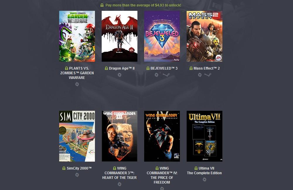 Humble Origin Bundle 2 Nouveaux jeux