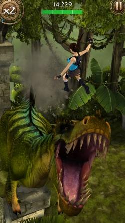 Lara Croft Relic Run T-Rex