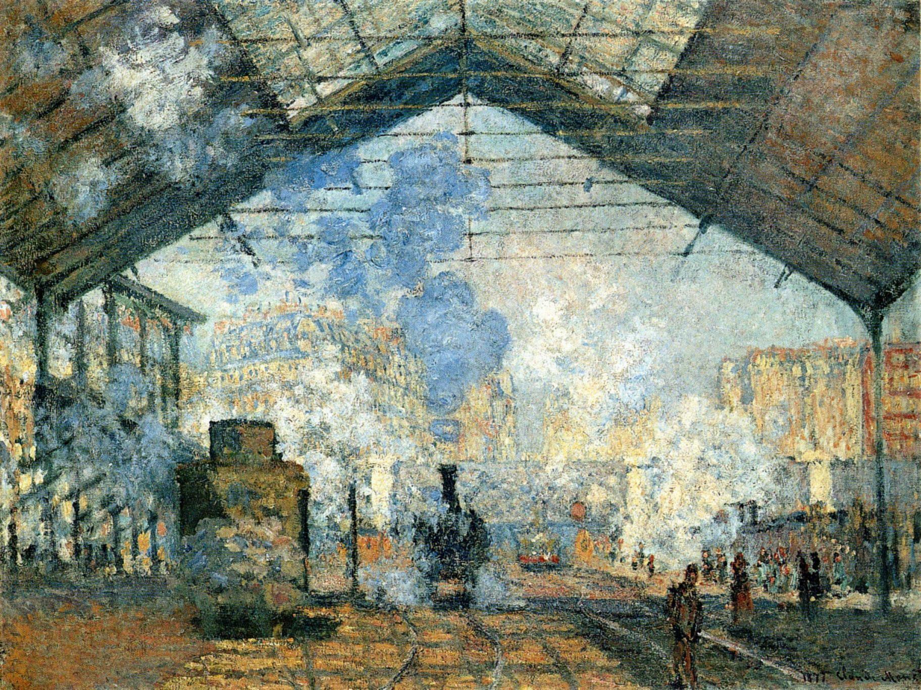 La Gare Saint-Lazare est la première série de Monet qui se focalise sur un thème unique (ça change des nymphéas)