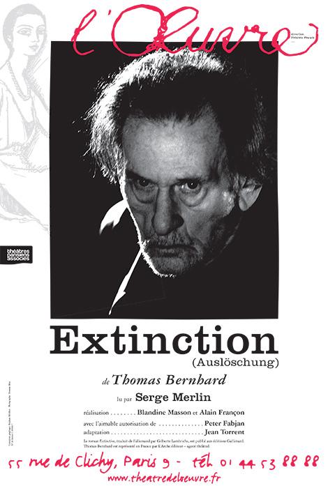 extinction theatre de loeuvre