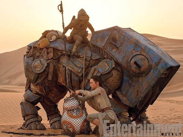 Daisy Ridley et le nouveau robot BB-8 !