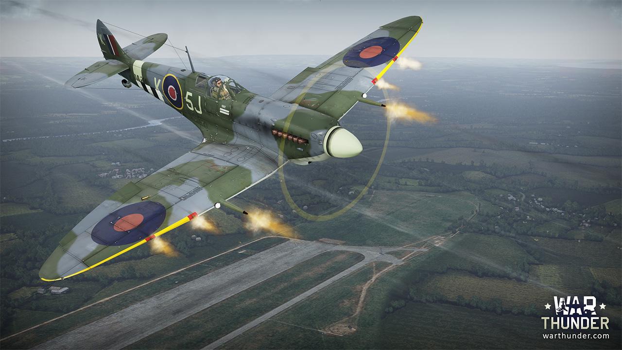 War Thunder Spitfire Mk.IX De plagis