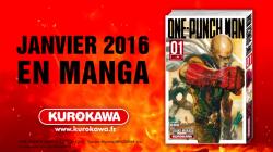 One Punch Man débarque chez Kurokawa en janvier 2016 !