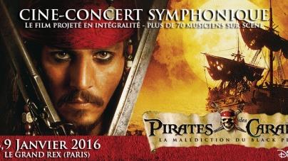 CONCOURS: 2 places à gagner pour le ciné-concert «Pirates des Caraïbes» du samedi 9 janvier à 15h, au Grand Rex de Paris.