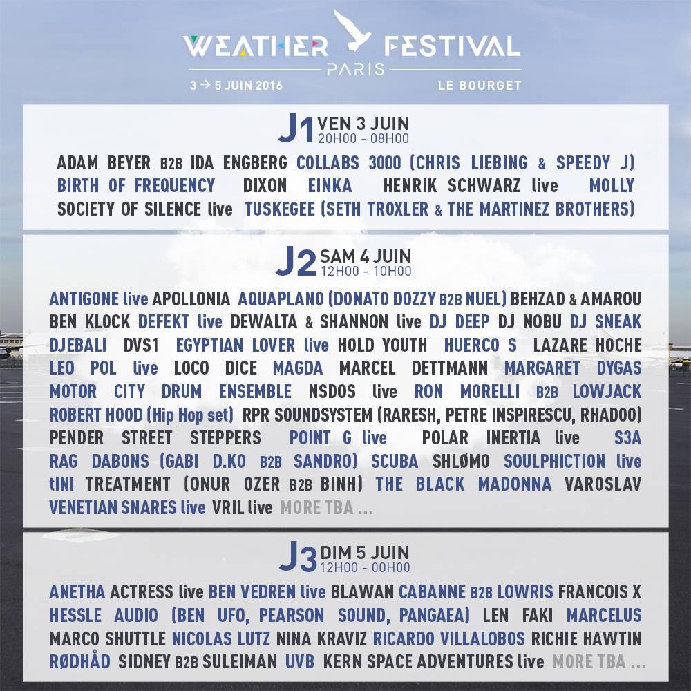 Weather Festival - Programmation