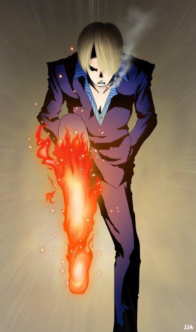 one piece sanji feu