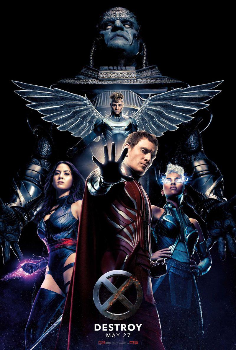Apocalypse et ses cavaliers : Tornade, Psylocke, Magneto et Angel