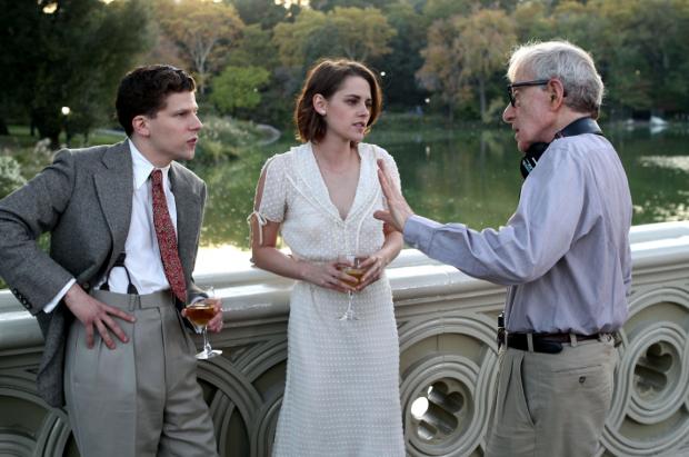 Jesse Eisenberg, Kristen Stewart et Woody Allen