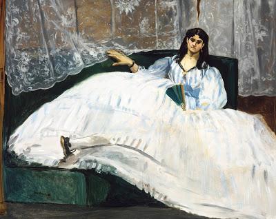 Edouard Manet - La Maîtresse de Baudelaire ou La Dame à l'éventail (1862)