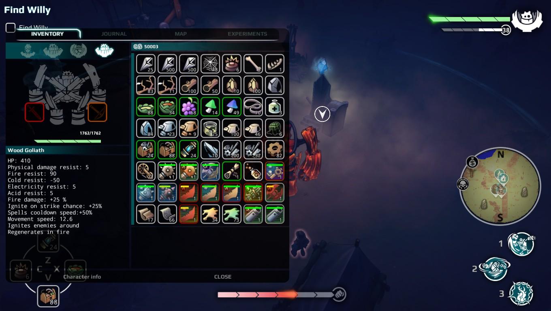 Goliath inventaire