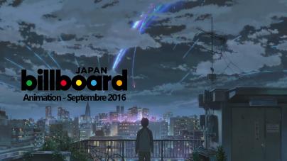 #JapanMusic : top 10 des musiques d'anime (Septembre 2016)
