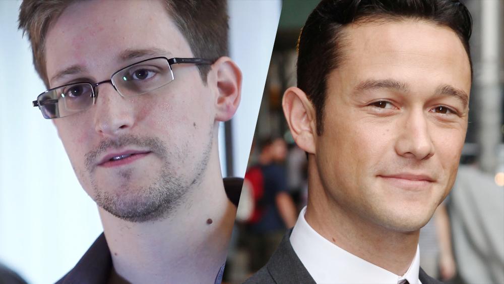 Edward Snowden et Joseph Gordon-Levitt