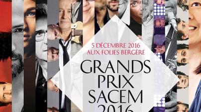 Et voilà le palmarès officiel 2016 du prix de la SACEM!
