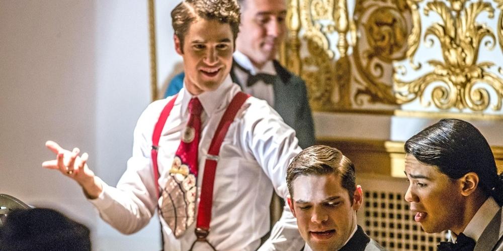 "The Flash -- ""Duet"" -- FLA317b_0212b.jpg -- Pictured (L-R): Darren Criss as Music Meister, Jeremy Jordan as Winn Schott and Carlos Valdes as Cisco Ramon -- Photo: Jack Rowand/The CW -- © 2017 The CW Network, LLC. All rights reserved."