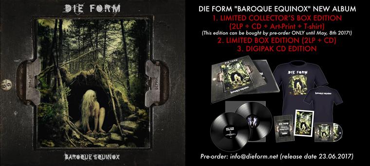 Nouvel album annoncé pour Die Form : «Baroque Equinox»