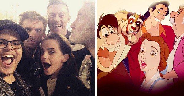 """Pal mal ce selfie-montage """"réalité/fiction"""" avec les personnages du film non ?!"""