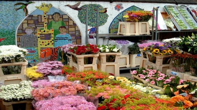 Shoreditch : marché aux fleurs