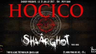 Hocico et Shaârghot en concert au Petit Bain le 21 Juillet 2017