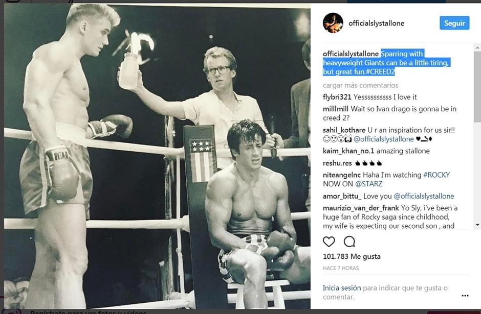 Le précédent post de Sly avec l'immense Dolph Lundgren