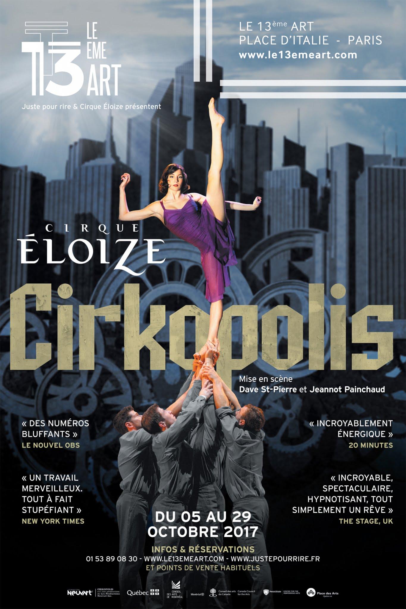 Le Cirque Eloize présente Cirkopolis