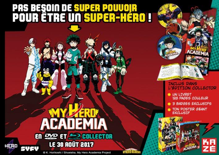 My hero academia dvd br