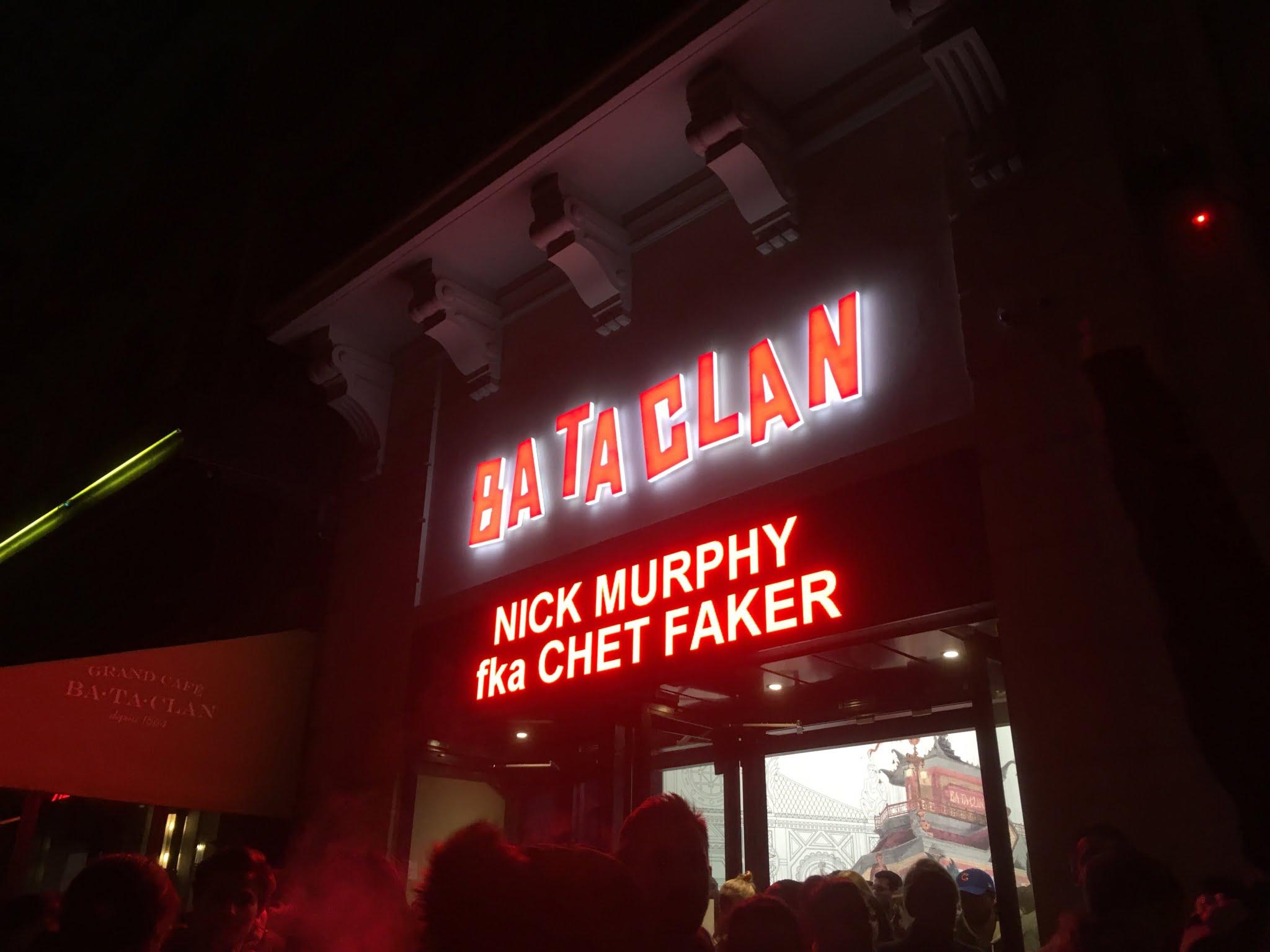 Nick Murphy Chet Faker Bataclan