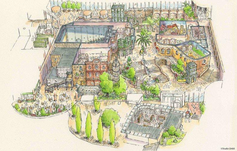 Parc Studio Ghibli - plan provisoire