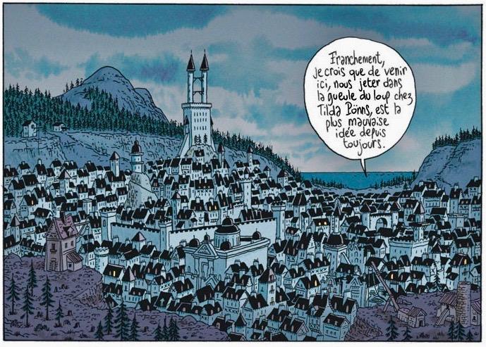 Un paysage typique d'heroic fantasy