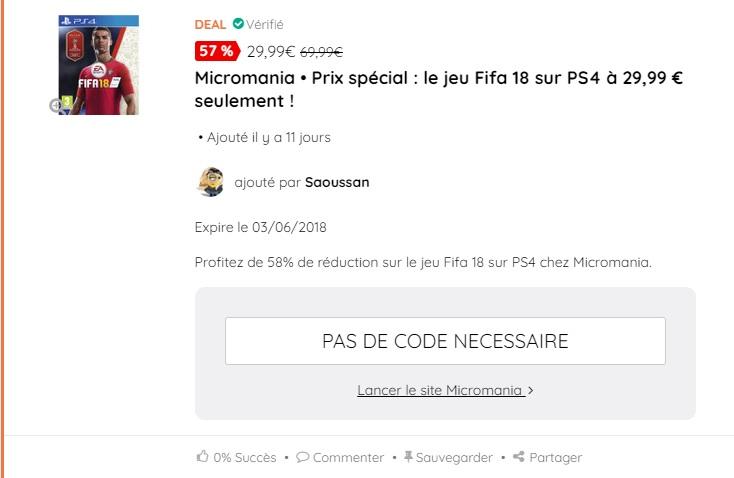 fifa 18 PS4 ma-reduc.com
