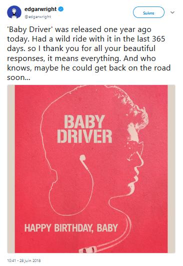 Edgar Wright tease un Baby driver 2