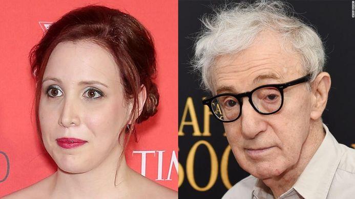 Woody Allen et sa fille adoptive Dylan Farrow.