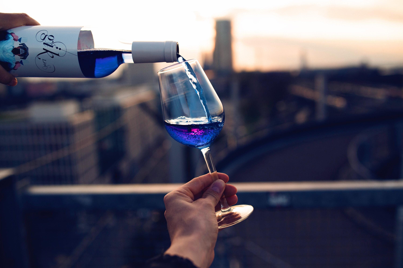 vin, bleu, gastronomie, lifestyle