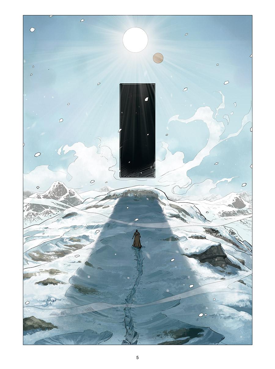 Monolithe on ice