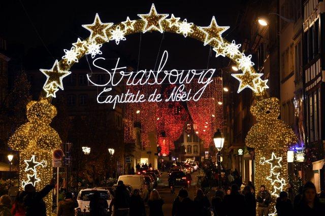 noël, strasbourg, france, fêtes, marché de noël