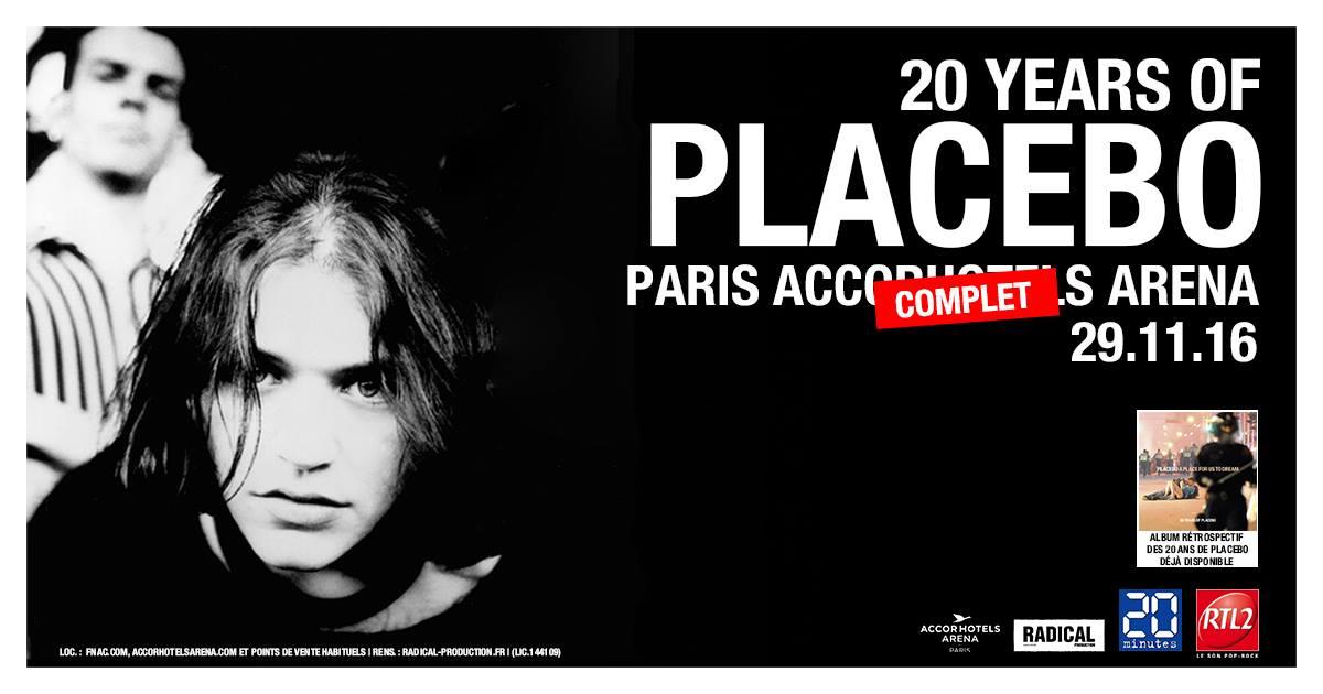 Placebo 20 ans