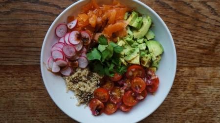 Salade de quinoa saine et rapide !