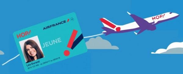 carte jeune, hop, avion, airfrance, voyage