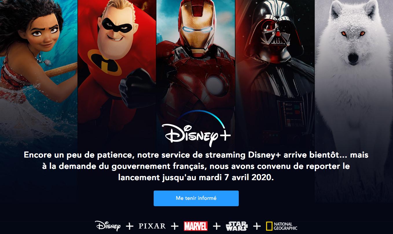 Plateforme Disney +