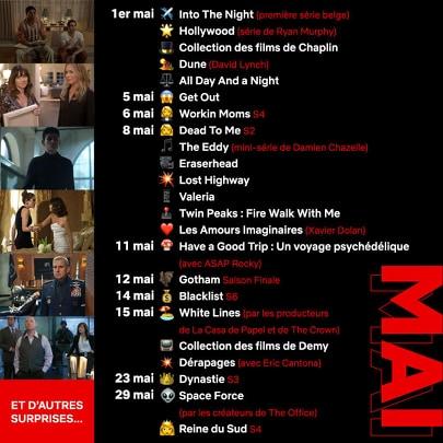 Programme Netflix mai 2020