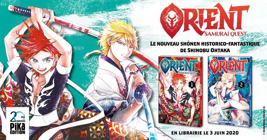 Orient Samurai Quest, la nouvelle série de Shinobu Ohtaka disponible dès le 17 juin chez Pika