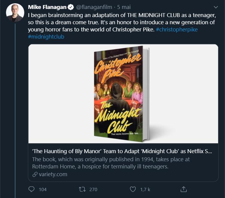 The Midnight Club : La nouvelle adaptation Netflix de Mike Flanagan