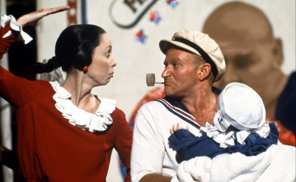 Robin Williams et Shelley Duvall dans Popeye