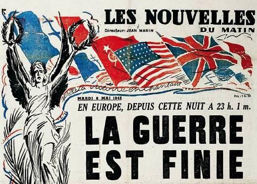 Victoire des alliés: 8 Mai 1945