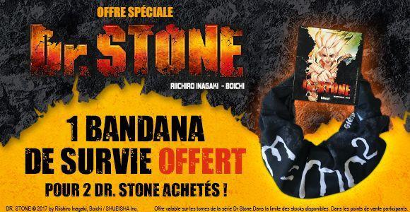 bandana dr stone offert par glénat