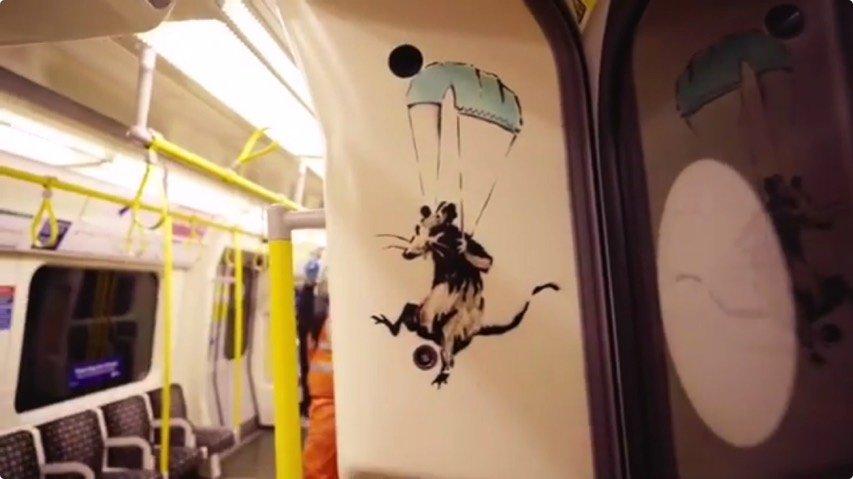 Banksy est de retour et incite les londoniens à porter un masque