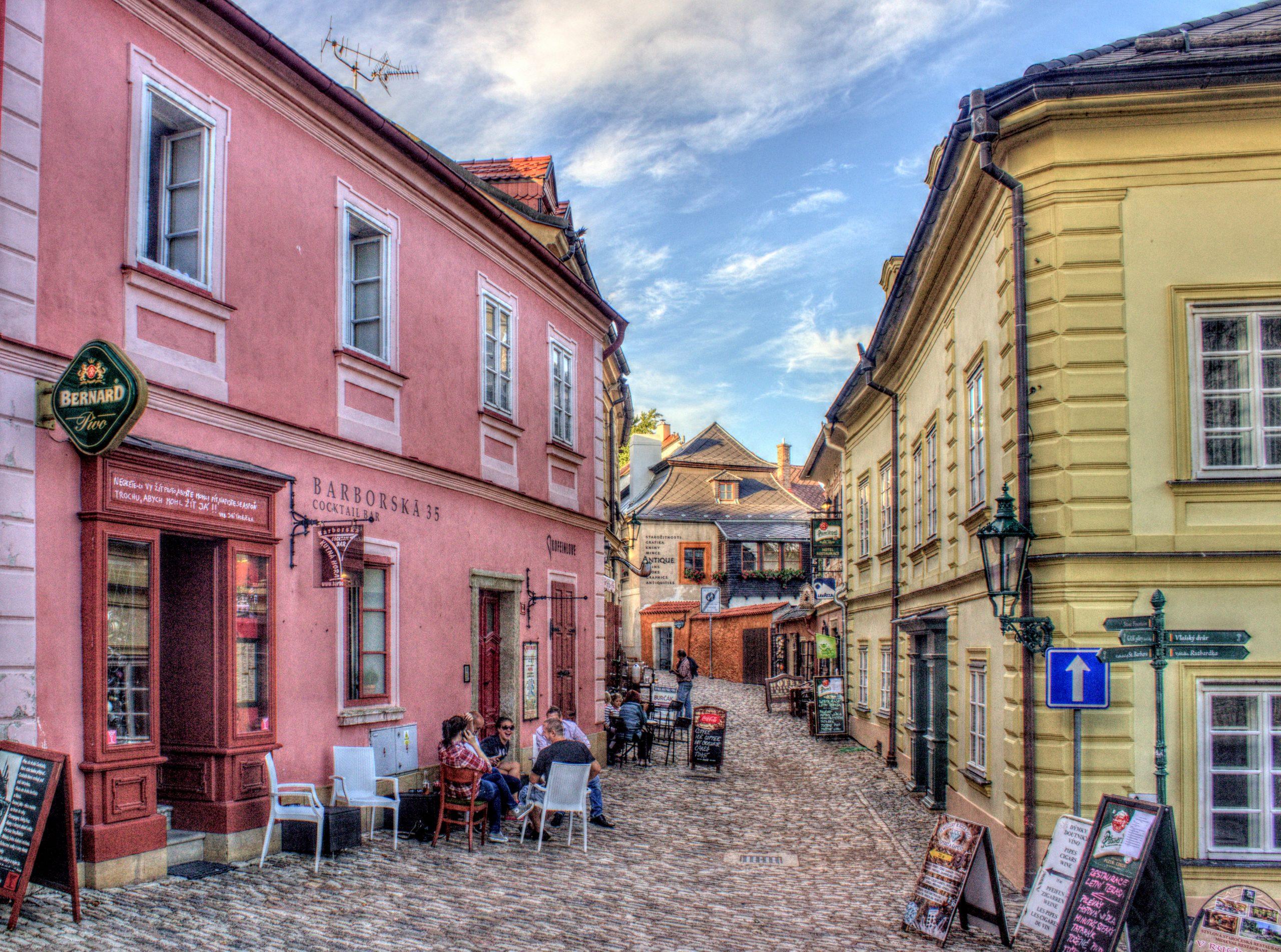 La rue Barboska de Kutna Hora