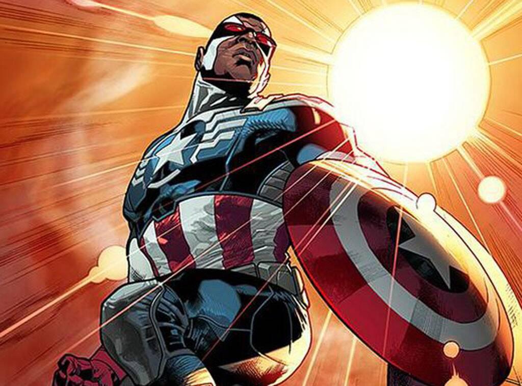 Le Faucon devenu Captain America (droits réservés à Marvel Comics)