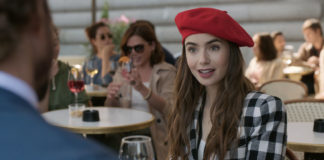 Lily Collins interprétant Emily Cooper dans Emily in Paris